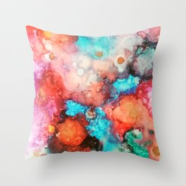 Ink colorful Throw Pillow