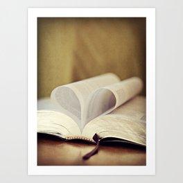 Love Bible Art Print