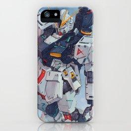 Nu Gundam watercolor iPhone Case