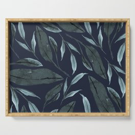 Leafy Vibes (Navy) Serving Tray
