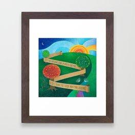 Planting Torah Framed Art Print