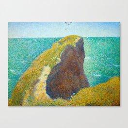 Le Bec du Hoc Grandcamp Georges Seurat - 1885 Impressionism Modern Populism Oil Painting Canvas Print