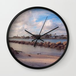 Winter Afternoon, Jupiter Inlet Lighthouse Wall Clock