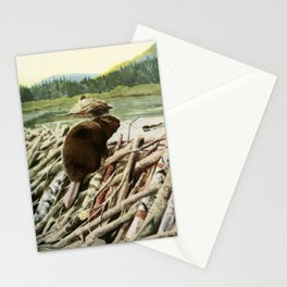 Fuertes, Louis Agassiz (1874-1927) - Burgess Animal Book 1920 (Beaver) Stationery Cards