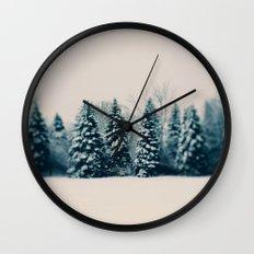 Winter & Woods Wall Clock