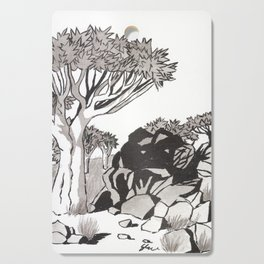 Quiver Tree & Rocks - Namibia Cutting Board
