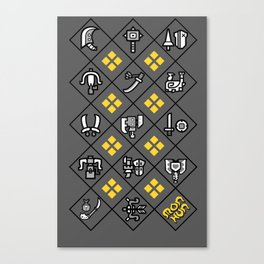 Weapons of MonHun Canvas Print