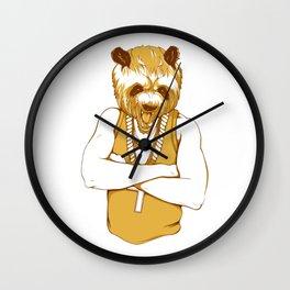 Bear - Panda - You're a Beast Wall Clock