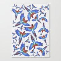 parrot Canvas Prints featuring Parrot. by Eleaxart