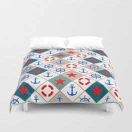 Nautical pattern . 1 Duvet Cover