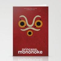 princess mononoke Stationery Cards featuring Princess Mononoke  by Fabio Castro