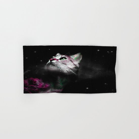 Supernova of the Ethereal Cat Hand & Bath Towel