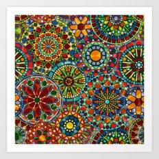 Cheerful Circles Art Print
