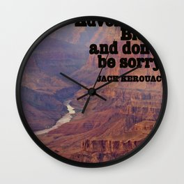 Kerouac Wall Clock
