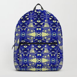 Tower Bridge Yellow Blue Abstract Pattern Backpack
