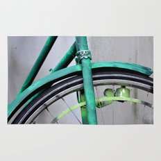 Green bike Rug