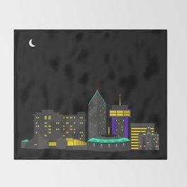 Wichita, Kansas Skyline Throw Blanket
