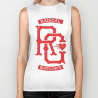 monogram Biker Tanks featuring Monogram! by Radical Gentlemen