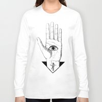 hamsa Long Sleeve T-shirts featuring Hamsa by KPapparel