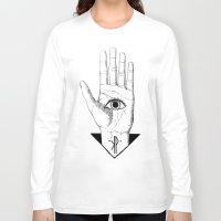 hamsa Long Sleeve T-shirts featuring Hamsa by -KP-