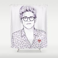 coconutwishes Shower Curtains featuring Sweetheart N by Coconut Wishes