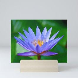 Violet lotus flower by #Bizzartino Mini Art Print