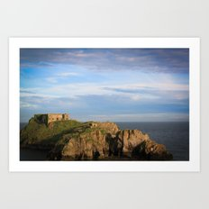 Castle out at sea. Art Print