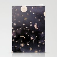 glitter Stationery Cards featuring Constellations  by Nikkistrange