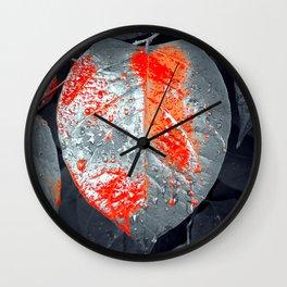 Rainy Day Garden Wall Clock