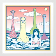 Animals & Sea Art Print