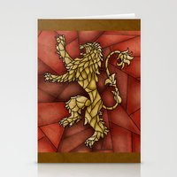 tyrion Stationery Cards featuring House Lannister Stained Glass by itsamoose