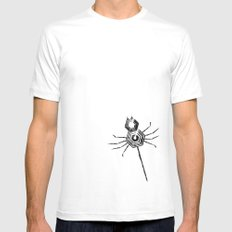 Spiders, spiders, everywhere White MEDIUM Mens Fitted Tee