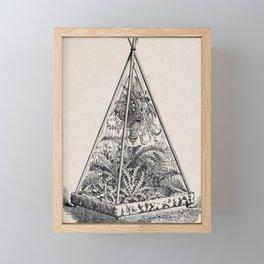 Victorian Terrarium Framed Mini Art Print