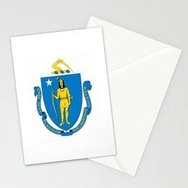 Massachusetts State Flag Patriotic Design Stationery Cards