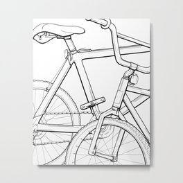 Sharpie Bikes Metal Print
