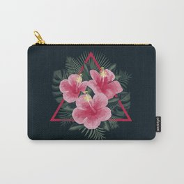 Tropical Flowers. Pink Hibiscus Carry-All Pouch