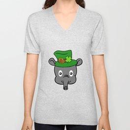 Leprechaun Tapir- St. Patricks Day Unisex V-Neck