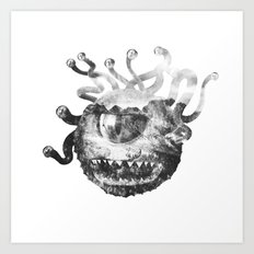 Beholder (Black & White) Art Print
