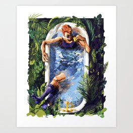 Crowley with Rubber Duck - Good Omens Art Print
