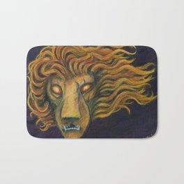 The Burning Lion Bath Mat