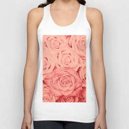 Some People Grumble - Living Coral Roses Unisex Tank Top