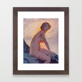 """""""They are calm, clear, well possess'd of themselves"""" (Margaret C. Cook, Leaves of Grass, 1913) Framed Art Print"""