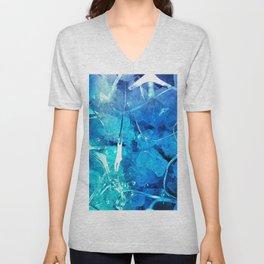 Crystal Blue Lights Unisex V-Neck