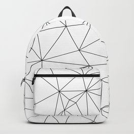 Black and White Geometric Minimalist Pattern Backpack