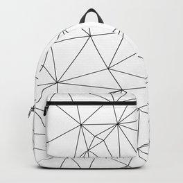 Black and White Geometric Minimalist Pattern Backpack