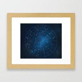 Constellation Star Chart Framed Art Print