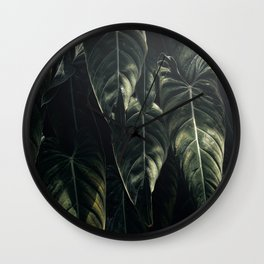 Monstera Leaf, Tropical, Wall Art, Print, Botanical Decor, Modern, Minimal, Plant, Green, Wall Clock
