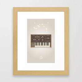 The Synth Project - Moog Prodigy - Updated Framed Art Print