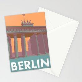 Berlin Vintage Travel Poster Style Brandenburger Tor Stationery Cards