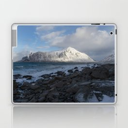White, blue and grey Laptop & iPad Skin